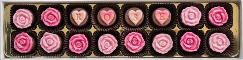 Personalised English Rose - fondant chocolates