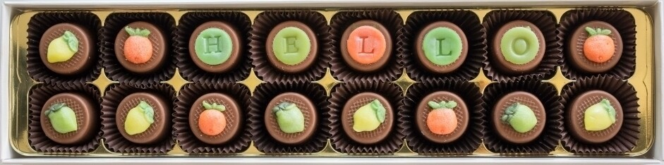 Personalised Citrus Trio - fondant chocolates