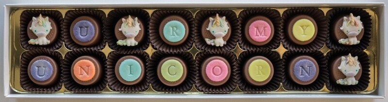 Personalised Be a Unicorn - marzipan chocolates