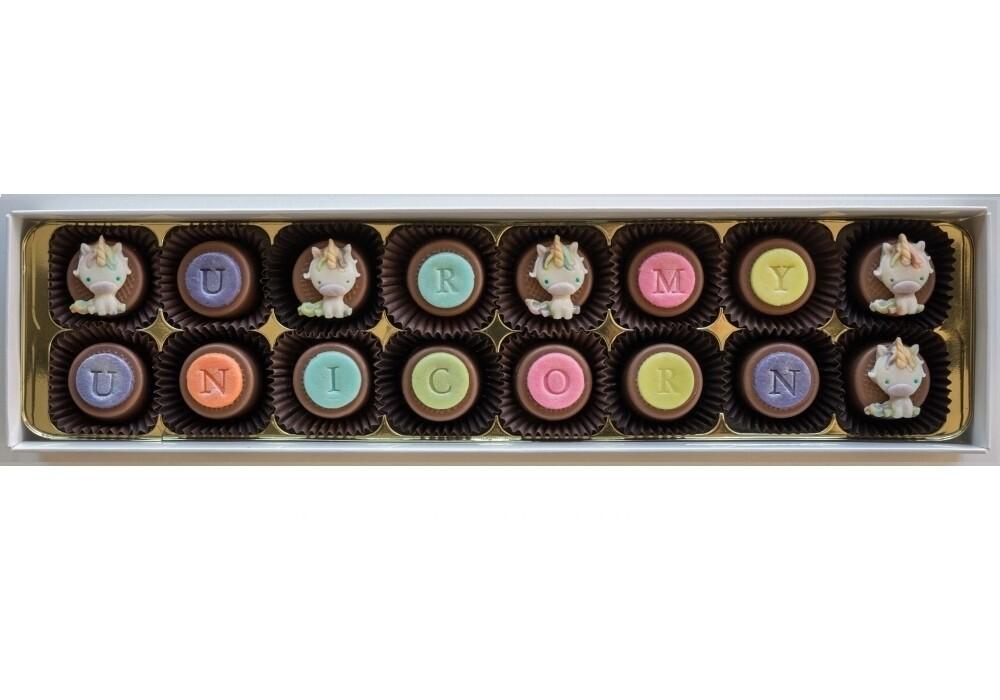 Personalised Be a Unicorn - marzipan chocolates