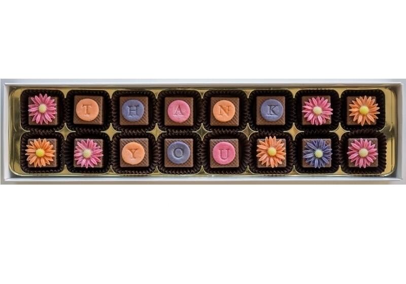 Personalised Bright Daisies - marzipan chocolates