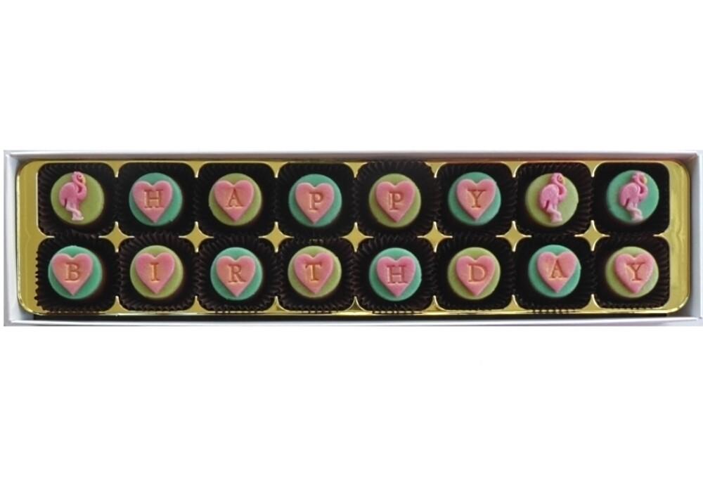 Personalised Pretty Flamingo - marzipan chocolates