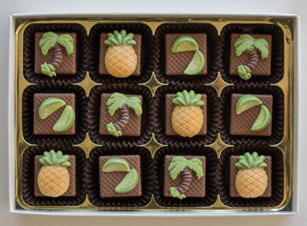 Tropical Tastes - filled with marzipan or flavoured fondant 00025