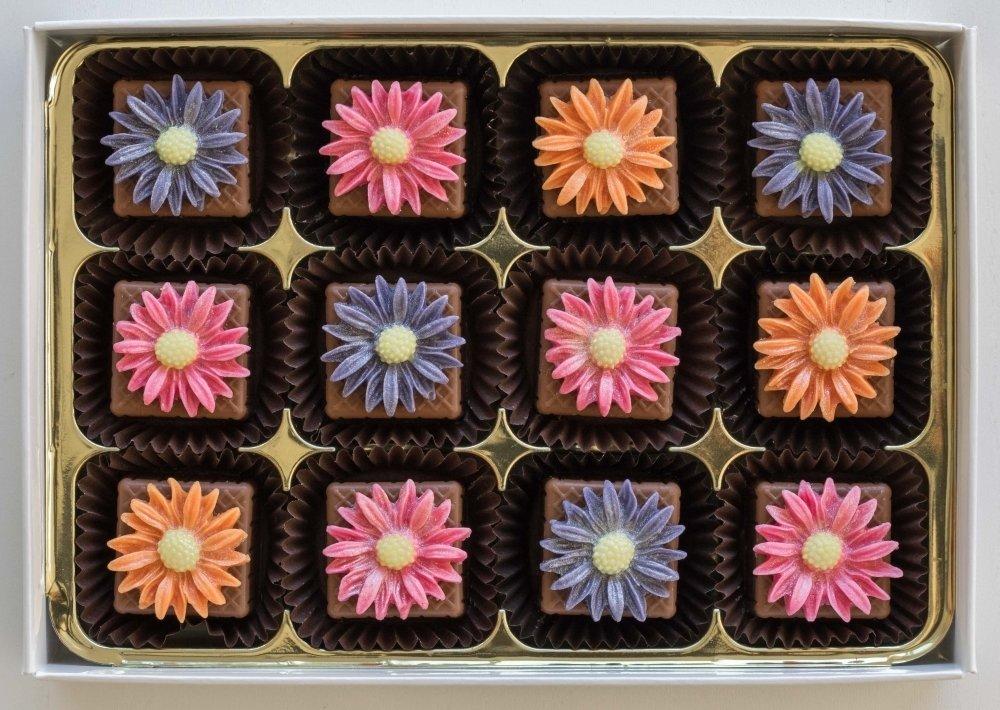 Bright Daisies - marzipan chocolates