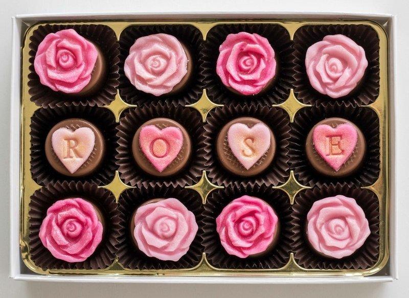 English Rose - fondant chocolates