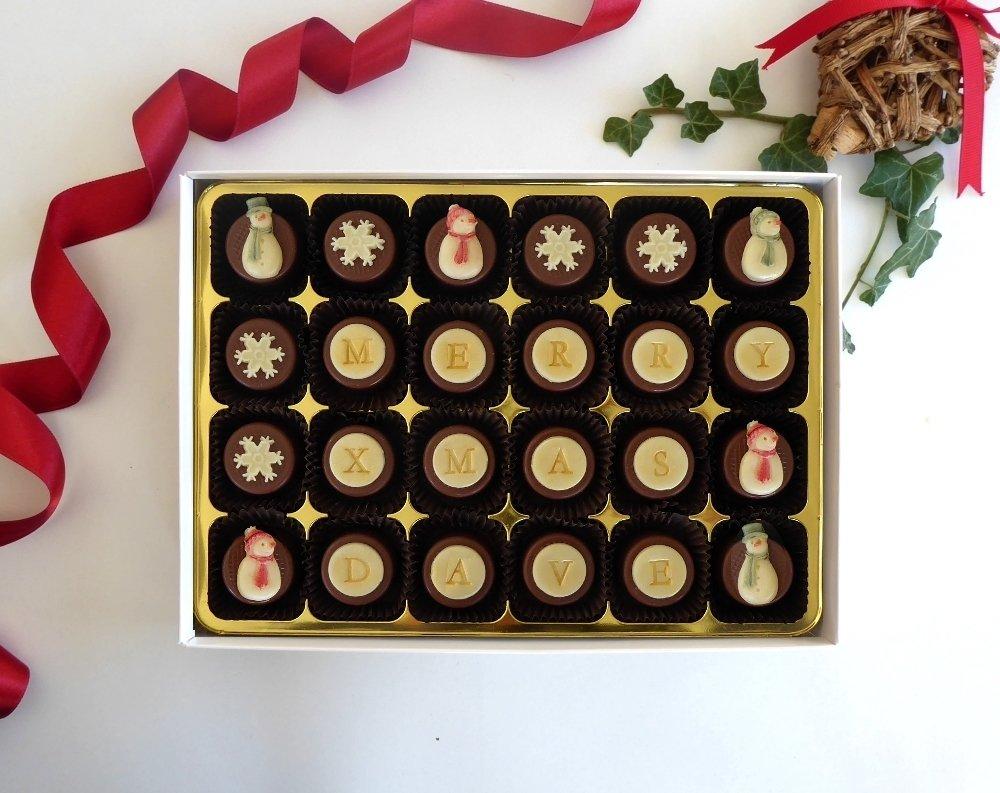 A jolly box of Christmas chocs.