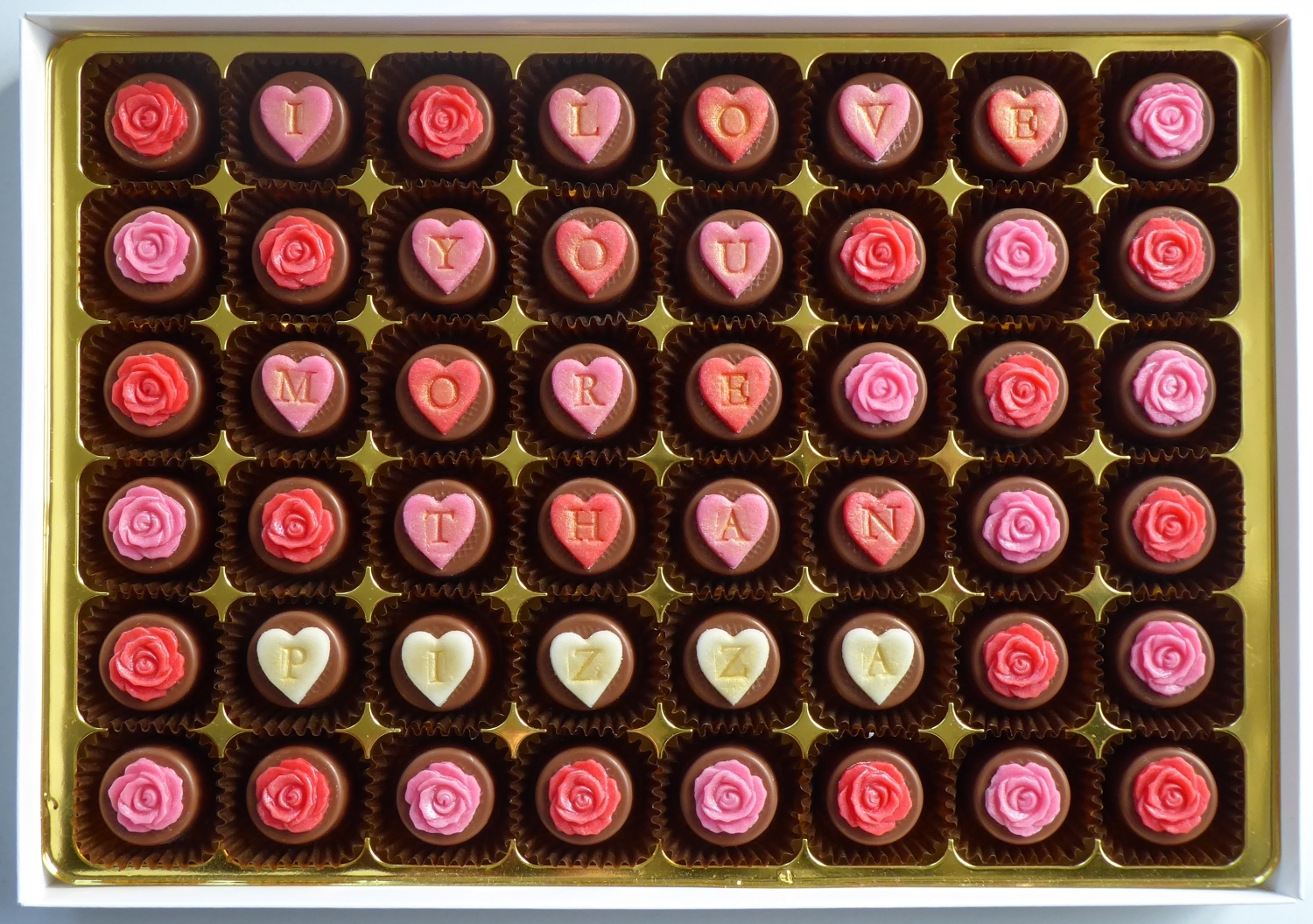 I Love You More Than...  personalised chocolates 00056