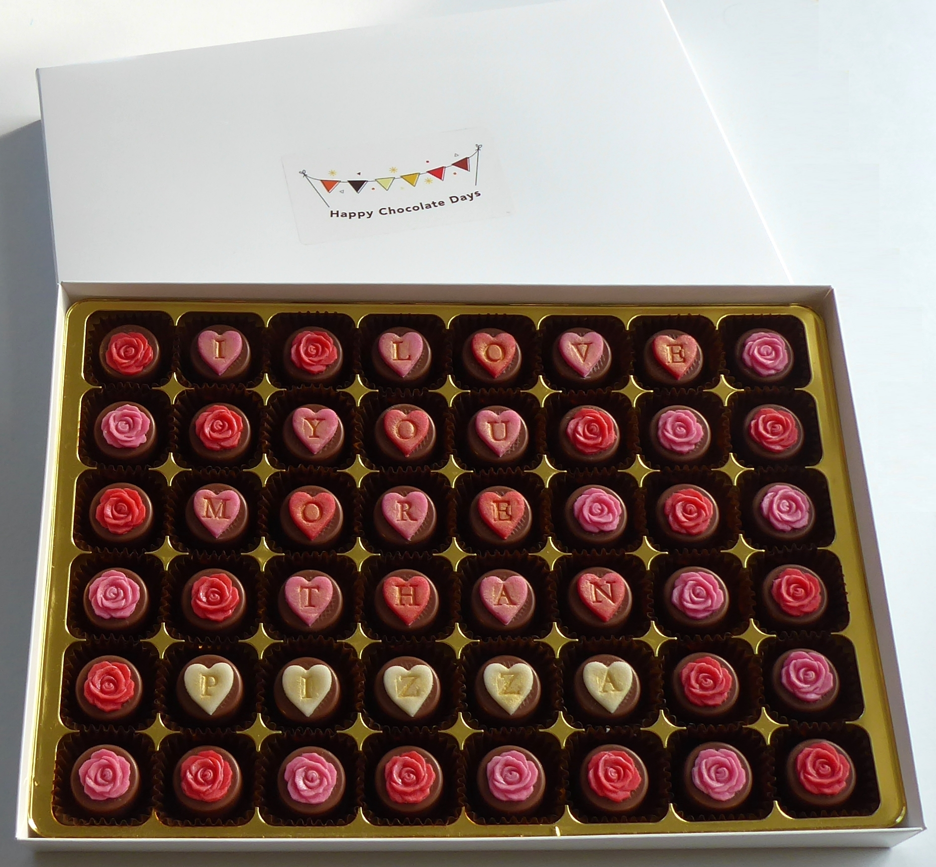 I Love You More Than...  personalised chocolates