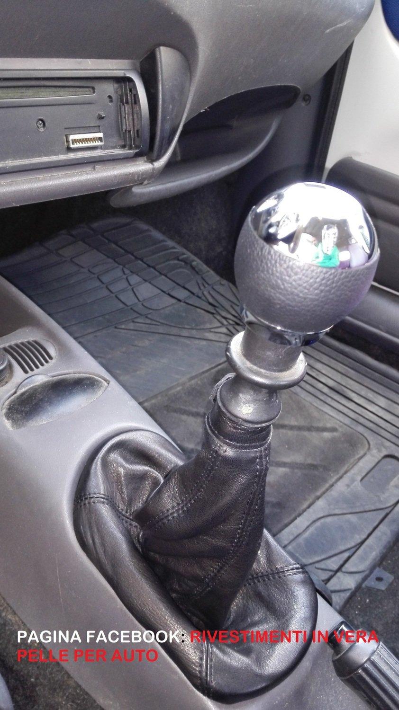 Cuffia leva cambio Fiat 600 vera pelle nera
