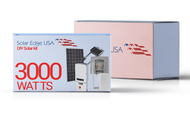 3000 Watt (3kW) DIY Solar Install Kit w/SolarEdge Inverter