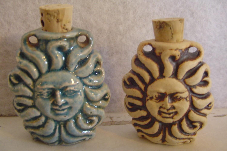 Tiny Ceramic Bottle - Sun