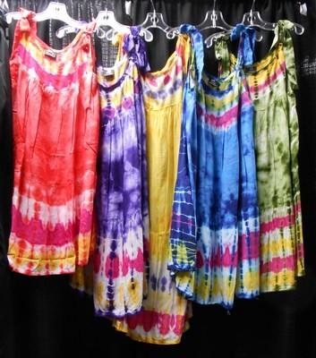 Girl's Adustable Tie Dye Dress