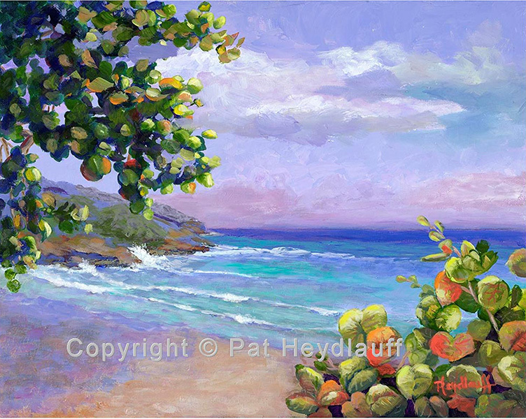 Caribbean Waves	- 20 x 16 OGP004