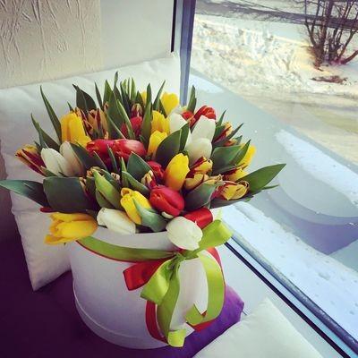 Микс из 35 тюльпанов