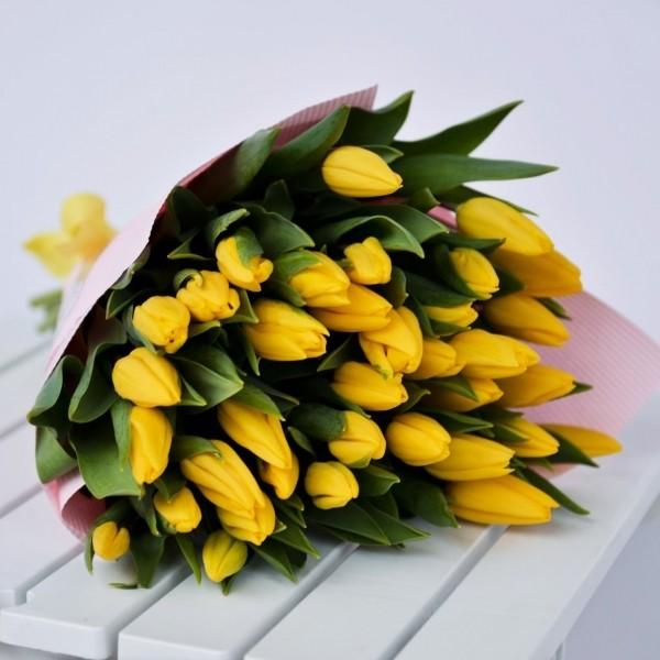 Цветы сибири, пожелание к букет желтые тюльпаны фото