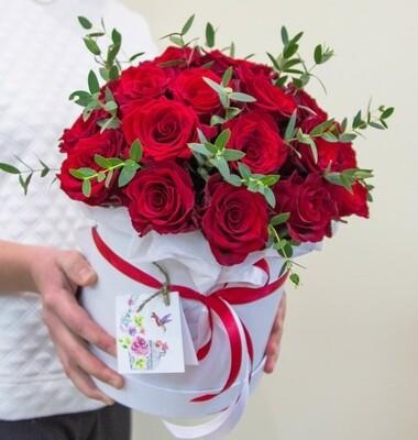 Аквабокс с красной розой