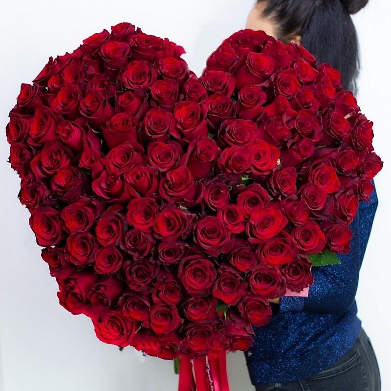 """Букет """"Сердце из 101 розы"""""""