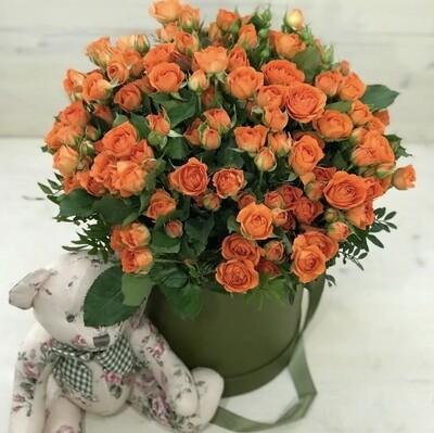 Аквабокс из кустовых роз