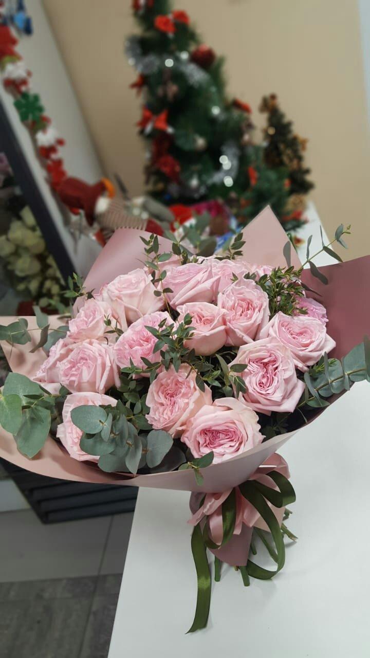 """Букет из пионовидной розы """"Охара"""""""