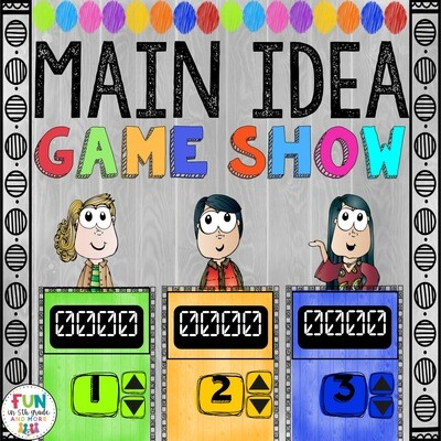 Main Idea Game Show (PowerPoint Game)