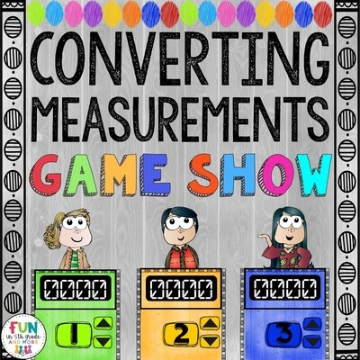 Converting Measurements Game Show: 5.MD.1 (PowerPoint Game)