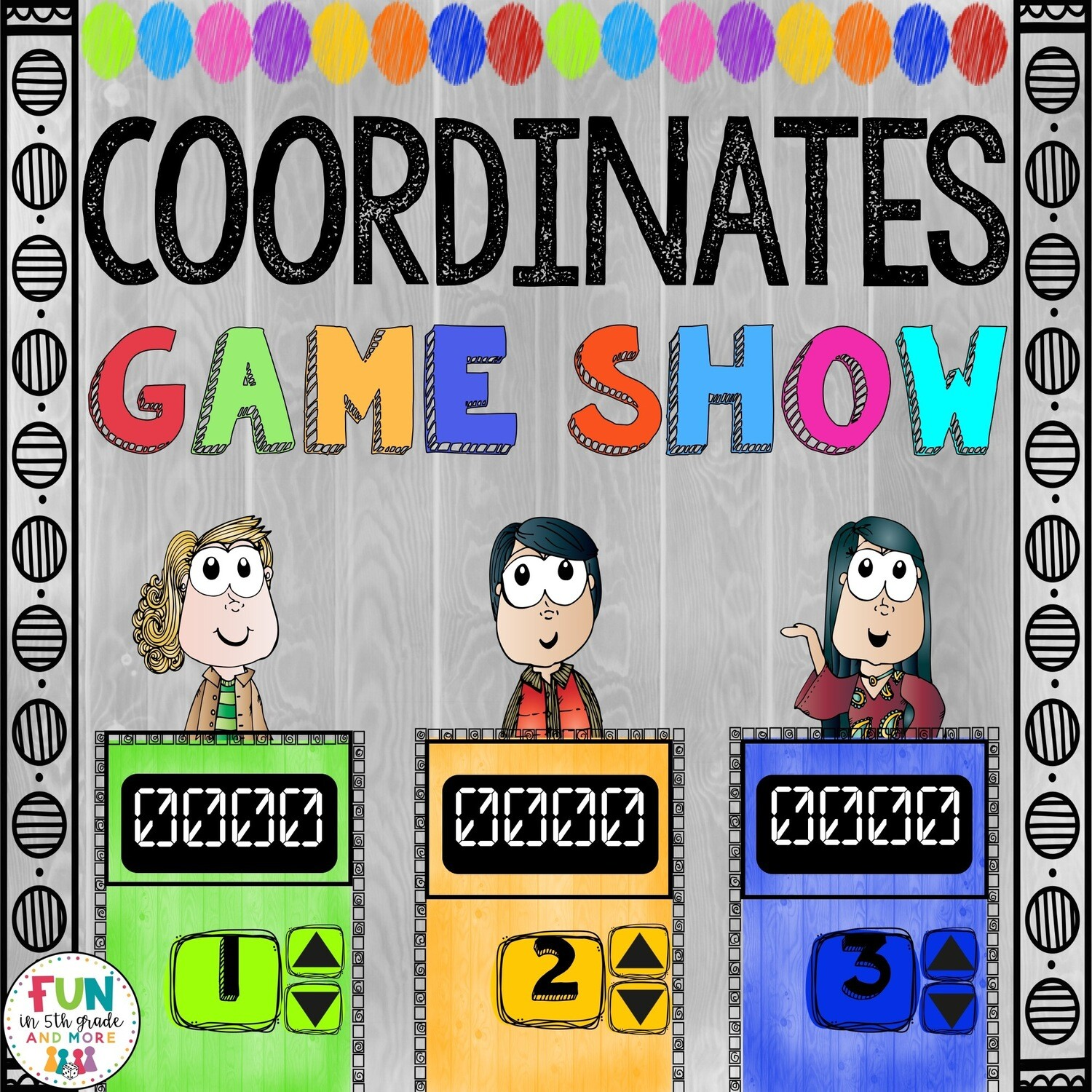Coordinates Game Show: 5.G.1/5.G.2 (PowerPoint Game)