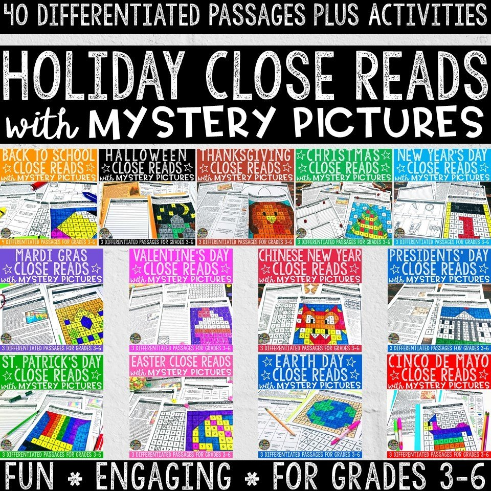Holiday Close Reads with Mystery Pictures Bundle 00000