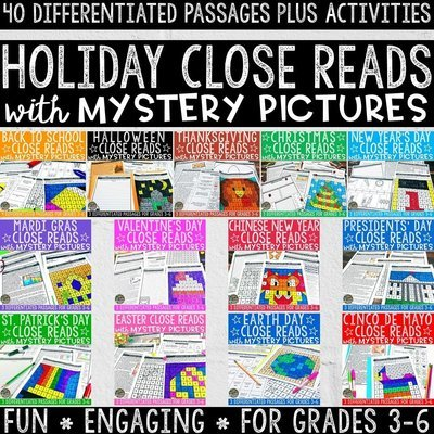 Holiday Close Reads with Mystery Pictures Bundle