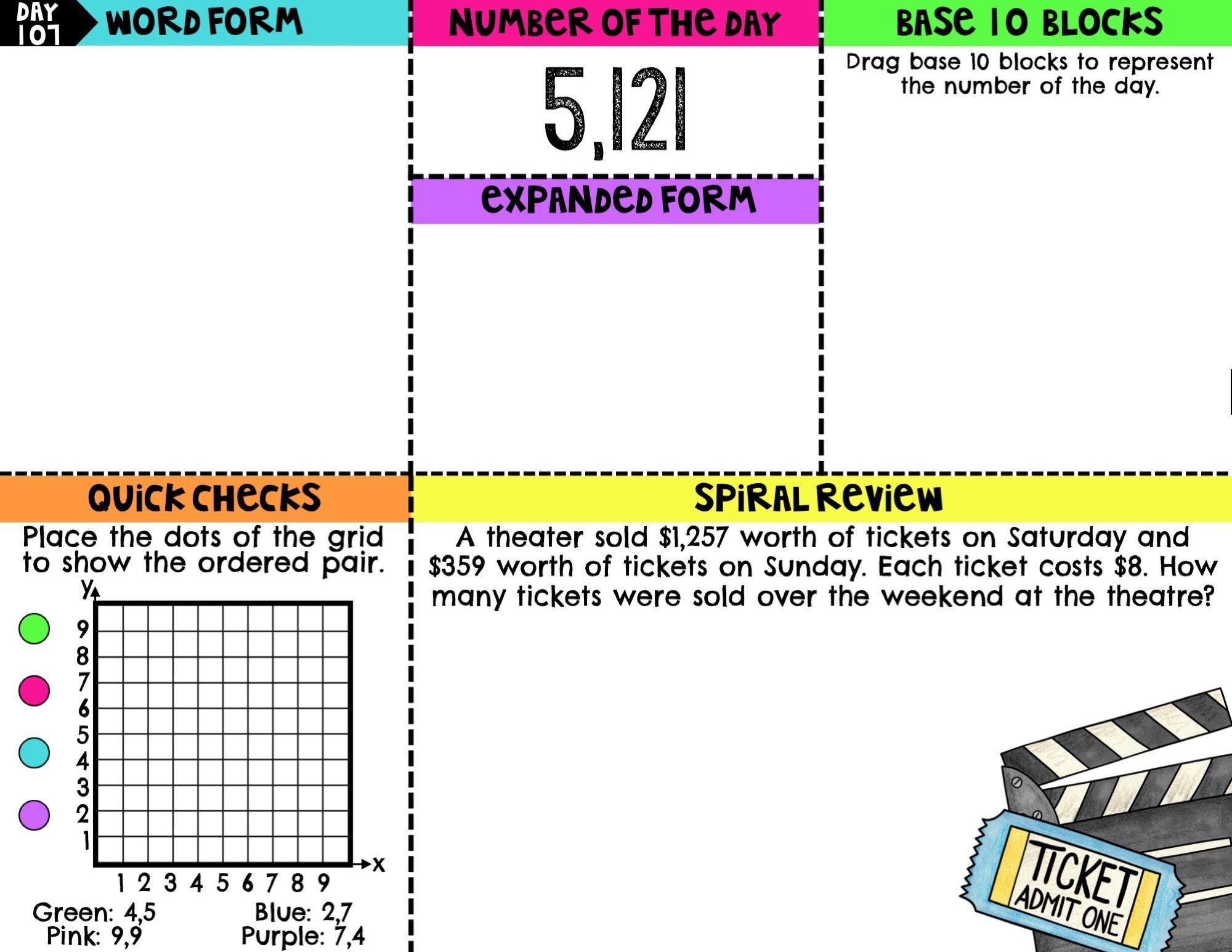 4th Grade Digital Math Warm Ups | Digital Morning Work