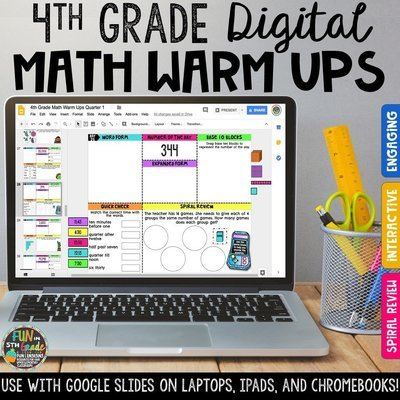 4th Grade Digital Math Warm Ups | Digital Morning Work