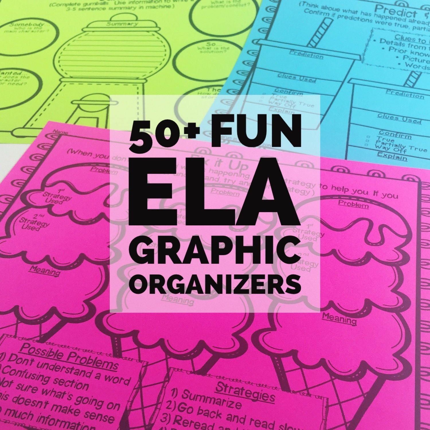 Graphic Organizers in a Fun Food Theme