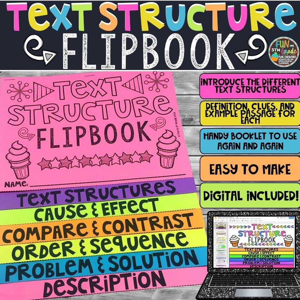 Text Structure Flipbook | Printable & Digital 00024