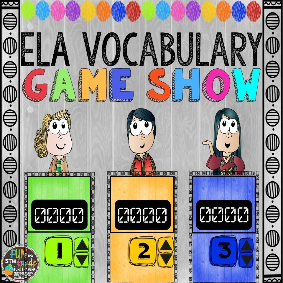 ELA Vocabulary Game Show (PowerPoint Game) 00034