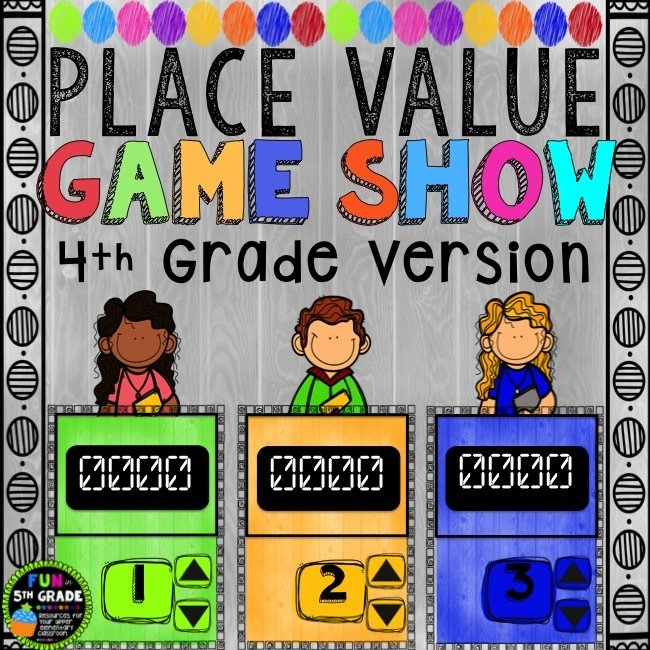 Place Value Game Show for 4th Grade (PowerPoint Game) 00035