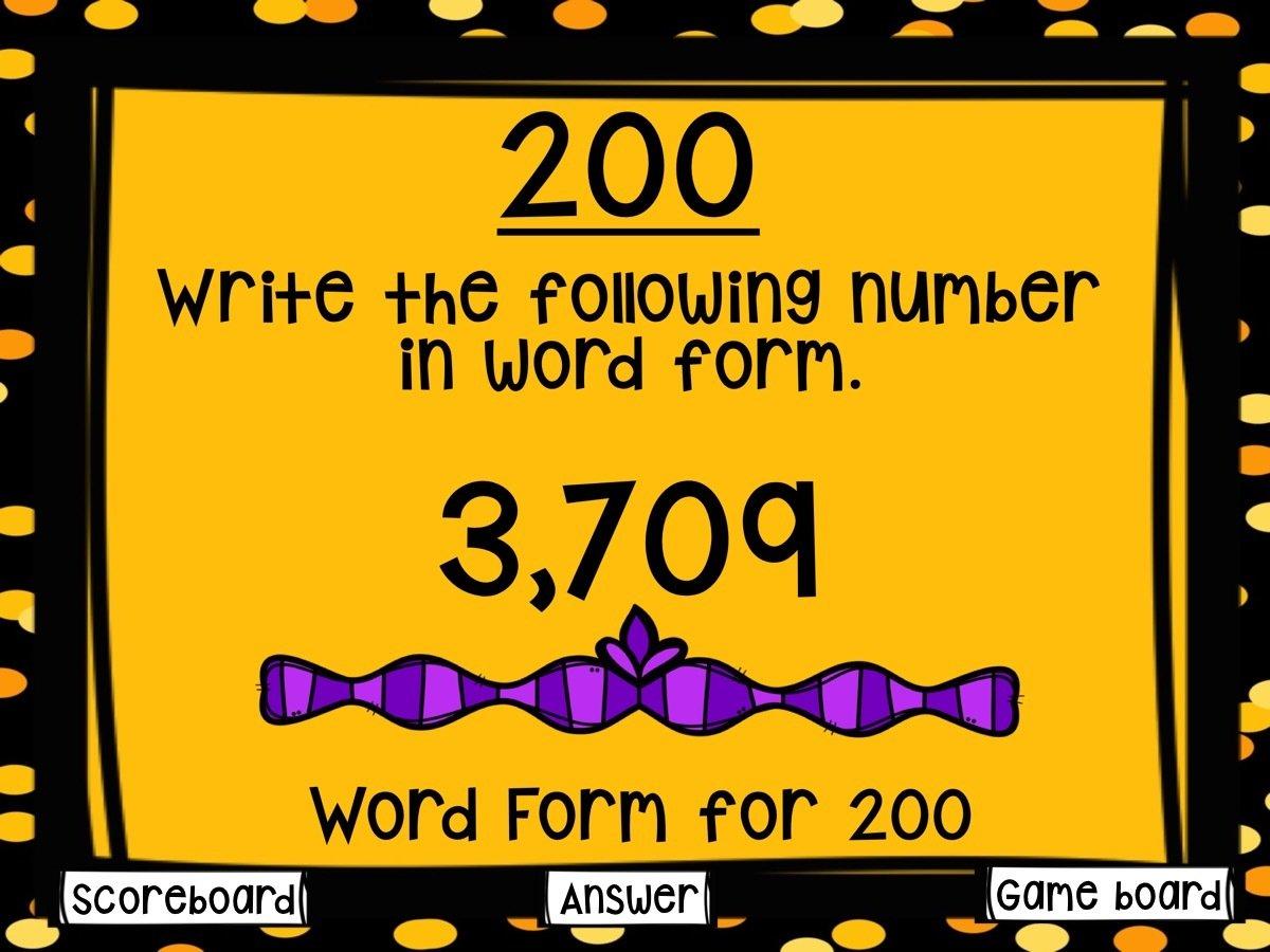 Place Value Game Show for 4th Grade (PowerPoint Game)
