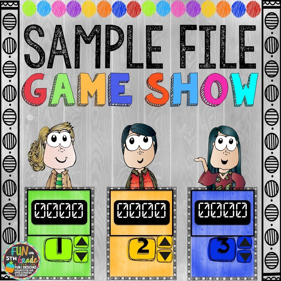 Sample Game Show File