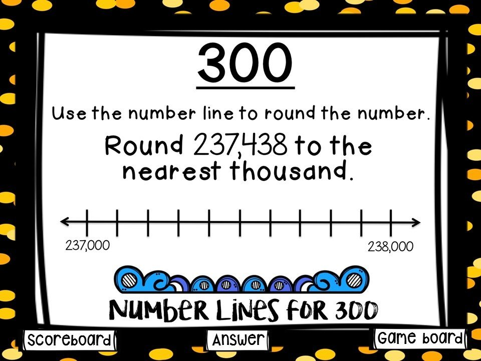 Rounding Whole Numbers Game Show (PowerPoint Game)