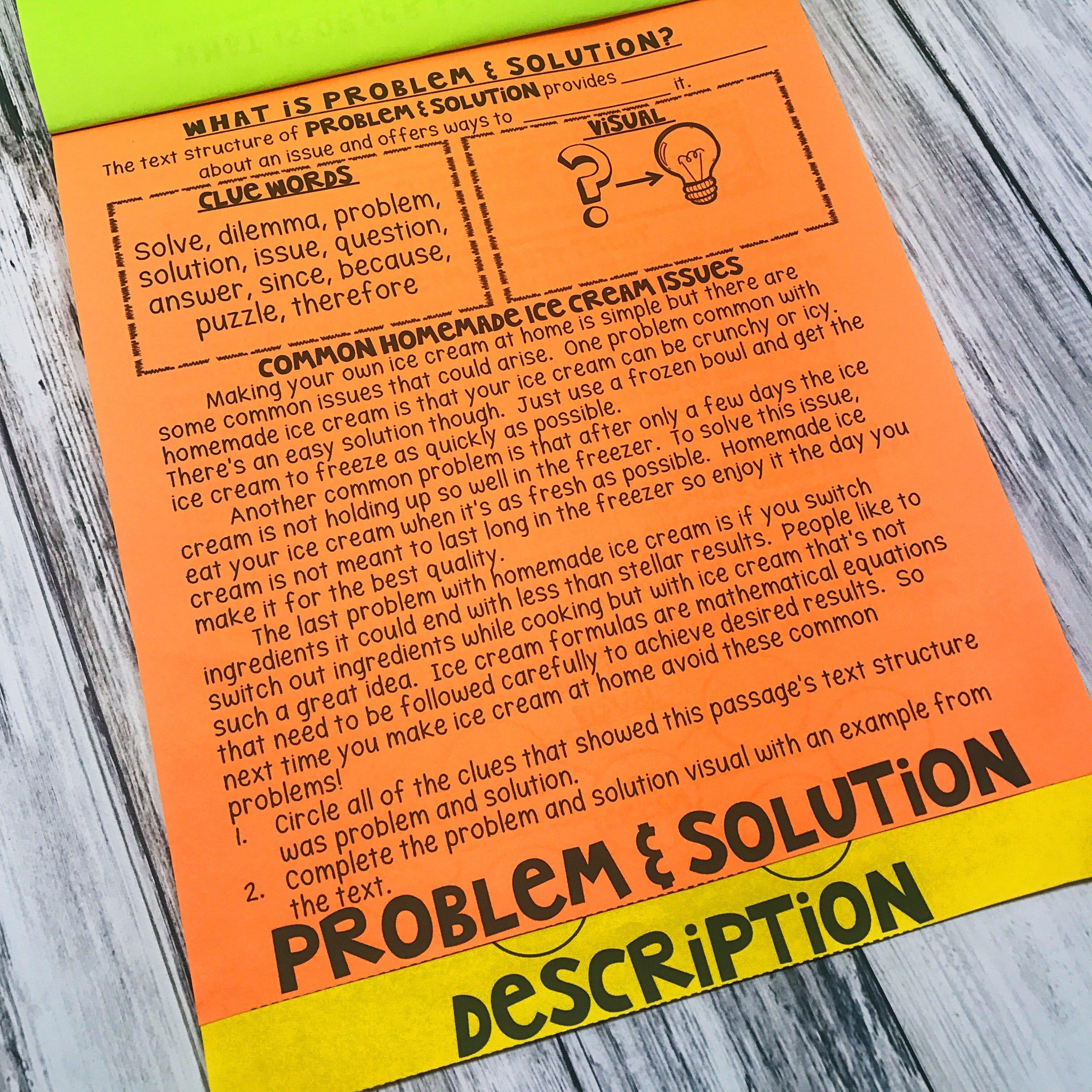 Text Structure Flipbook | Printable & Digital