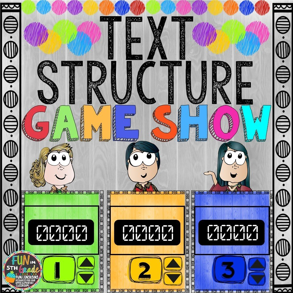 Text Structure Game Show (PowerPoint Game) 00030