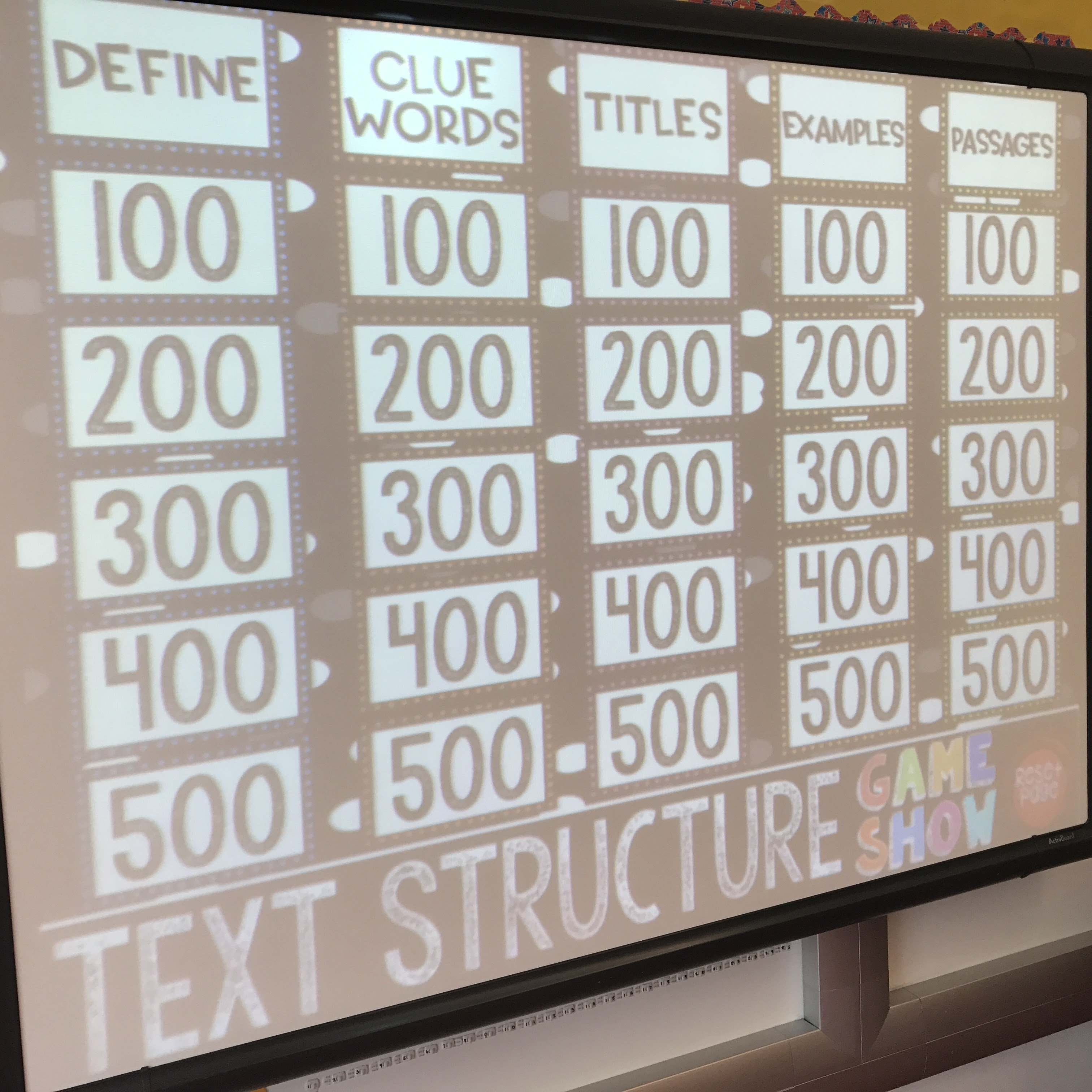 Text Structure Game Show (PowerPoint Game)