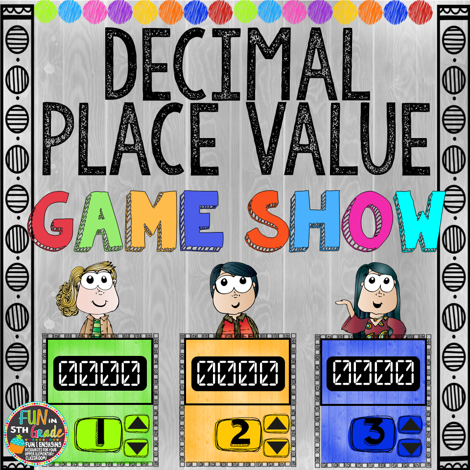 Decimal Place Value Game Show (PowerPoint Game) 00039