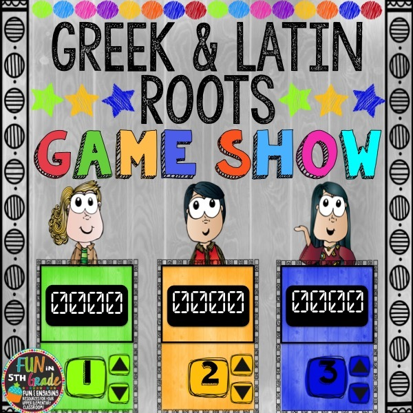 Greek and Latin Roots Game Show (PowerPoint Game) 00037