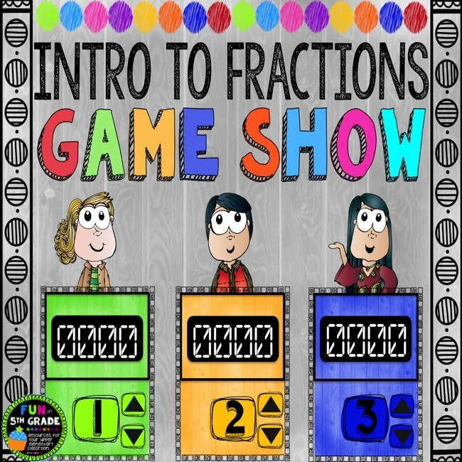 Intro to Fractions Game Show (PowerPoint Game) 00040
