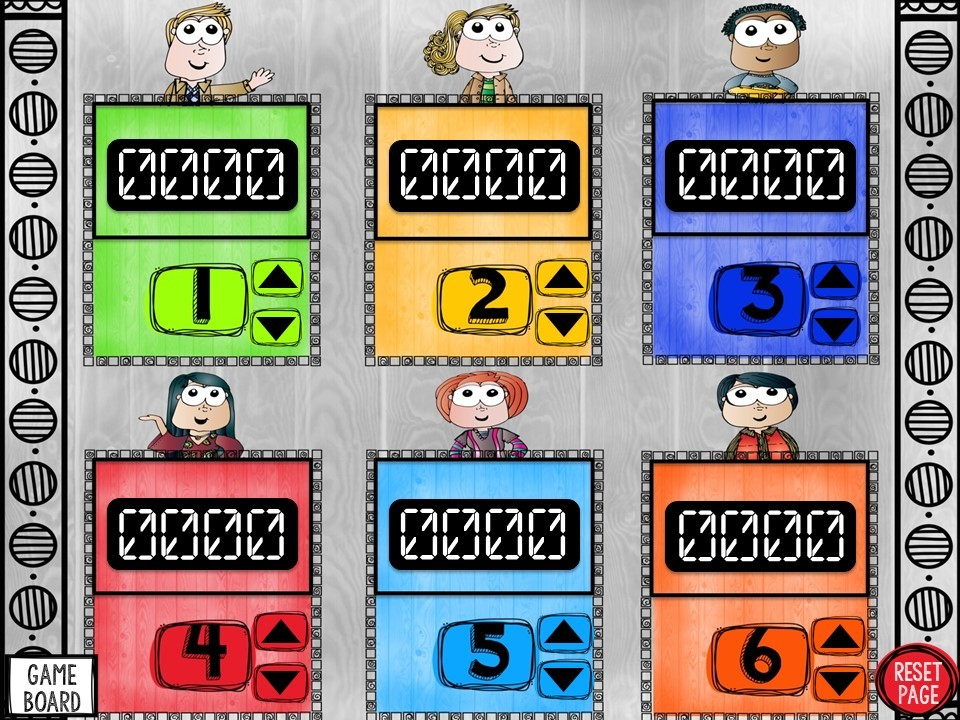 Multiply & Dive Whole Numbers Game Show (PowerPoint Game)