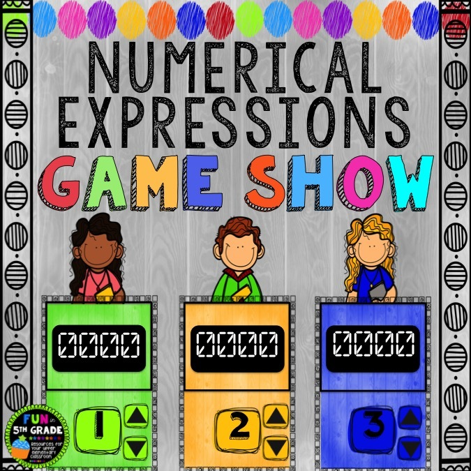 Numerical Expressions Game Show (PowerPoint Game) 00038