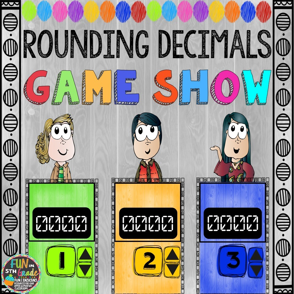 Rounding Decimals Game Show (PowerPoint Game) 00041