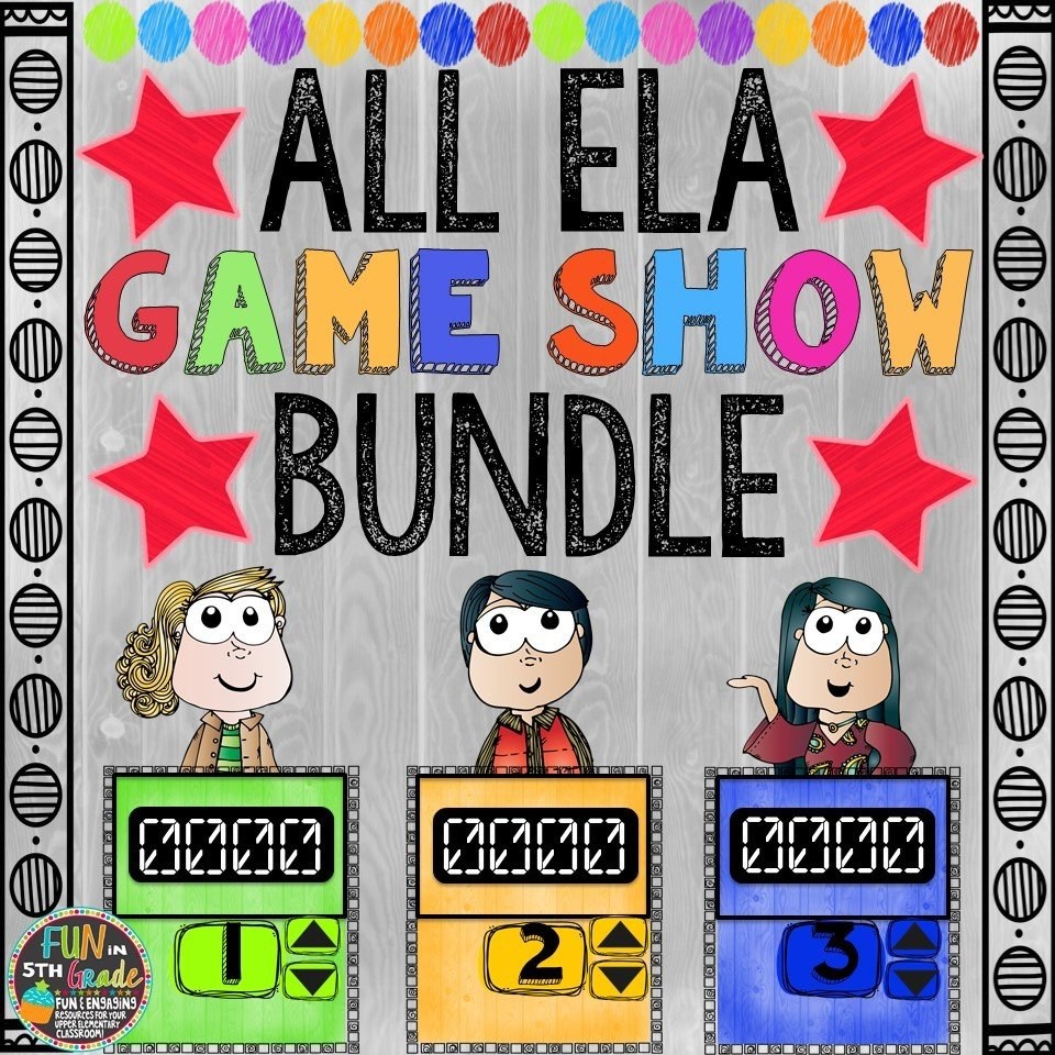 ALL ELA Game Shows (PowerPoint Games)