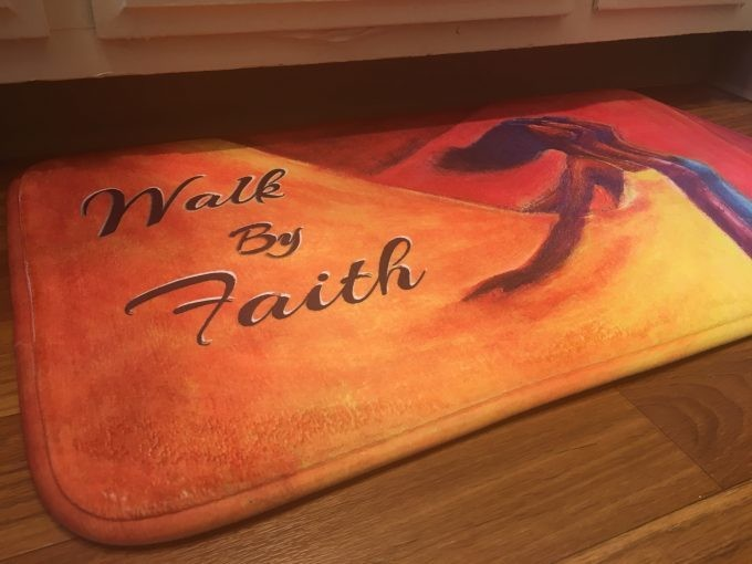 WALK BY FAITH MEMORY FOAM FLOOR MAT
