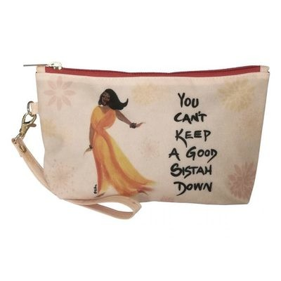 YOU CAN'T KEEP A GOOD SISTAH DOWN COSMETIC POUCH