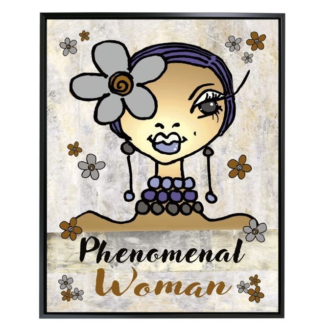 PHENOMENAL WOMAN FRAMED CANVAS ART